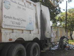 Resultado de imagen para Camion recolector de basura en pedro brand